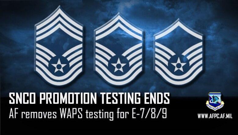 SNCO promotion testing ends; AF removes WAPS testing for E-7/8/9