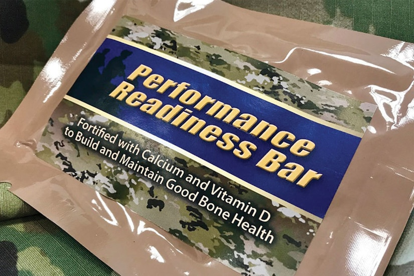 A sports bar wrapped in military-themed packaging.