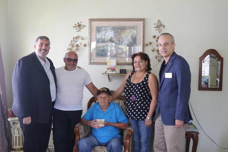 Replica of Congressional Gold Medal presented to Borinqueneer in Aibonito, PR