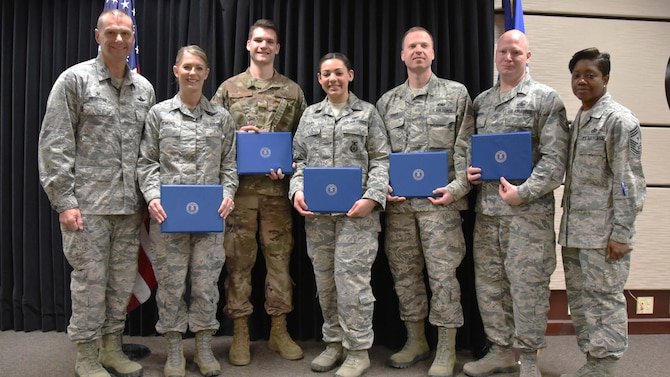 Congratulations to all the 2018 Community College of the Air Force graduates. Reserve Citizen Airmen from the 931st Air Refueling Wing received their diplomas during the organization's eight Community College of the Air Force Graduation Ceremony, Feb. 3, 2019. CCAF is a worldwide multi-campus community college established to meet the educational needs of Air Force enlisted personnel.