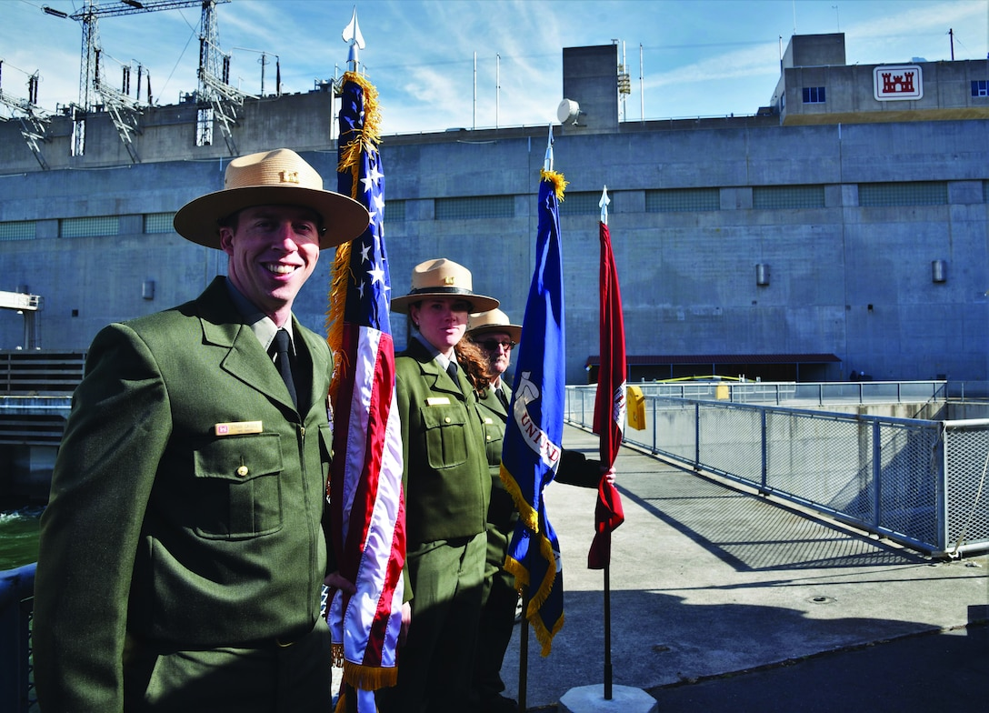 Park rangers from other Corps locations joined the John Day rangers to help commemorate the event.