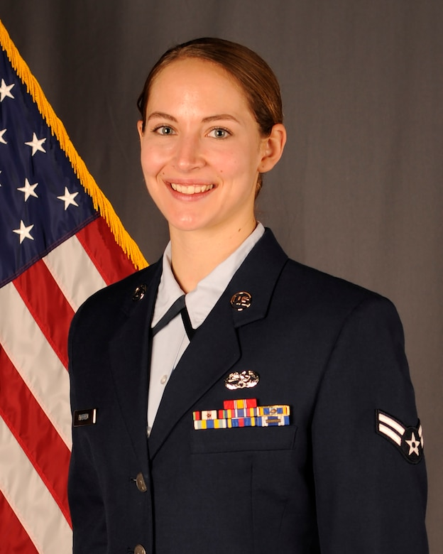 Airman 1st Class, Charlotte Ekeren, 114th Maintenance Squadron munitions specialist, received the South Dakota Air National Guard Outstanding Airmen of the Year award.
