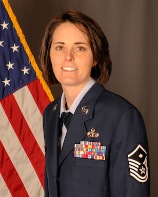 Master Sergeant Carmen Taylor, 114th Security Forces Squadron First Sergeant, received the South Dakota Air National Guard Outstanding First Sergeant of the Year award.