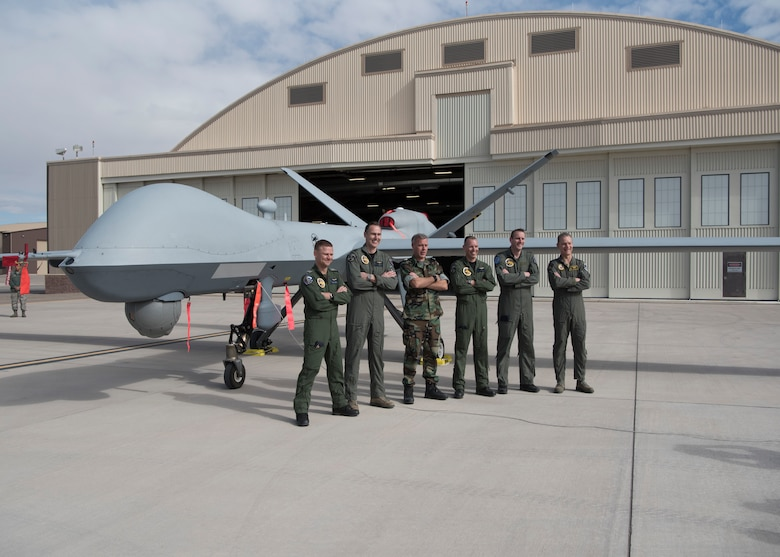 Netherlands defense and military officials visited Holloman to tour the facilities where their MQ-9 Reaper pilots and sensor operators are being trained. (U.S. Air Force photo by Airman Autumn Vogt)