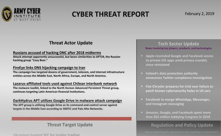 Cyber Threat Report 02 February 2019