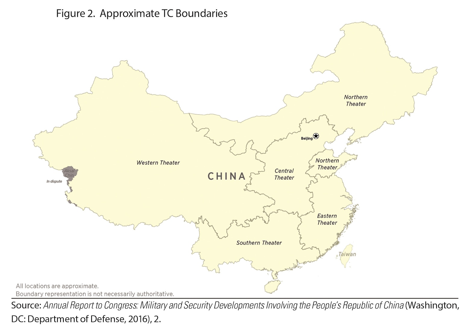 Figure 2. Approximate TC Boundaries