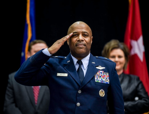 """Brig. Gen. Christopher """"Mookie"""" Walker assumed command of the West Virginia Air National Guard from Brig. Gen. Paige P. Hunter during a formal change of command ceremony held Feb. 2, 2019, at the 130th Airlift Wing, McLaughlin Air National Guard Base in Charleston."""