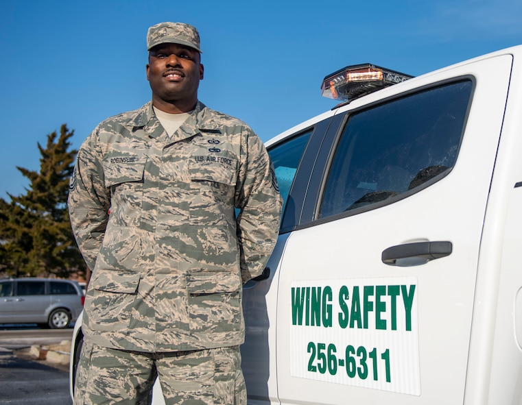 Master Sgt. Lawrence Robinson, 375th Air Mobility Wing Safety Office superintendent, is this week's Showcase Airman. Lawrence also acts as the Occupational Safety Manager and has been charged with ensuring the inspection, assessment, and training for the 42,000 personnel and 900 structures on the installation meet or exceed the Occupational Safety and Health Administration's standards. He created an innovative spreadsheet, allowing commanders to view the status of their last safety assessment in an easily-digestible format. Commanders now have the information necessary to ensure their units are not only performing the mission, but also doing so safely.  His team was also named as Air Mobility Command's Occupational Safety Flight of 2018.
