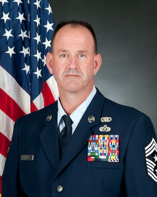 Official photo of Chief Master Sgt. David Stevens. (U.S. Air National Guard photo by Senior Master Sgt. Emily Beightol-Deyerle)