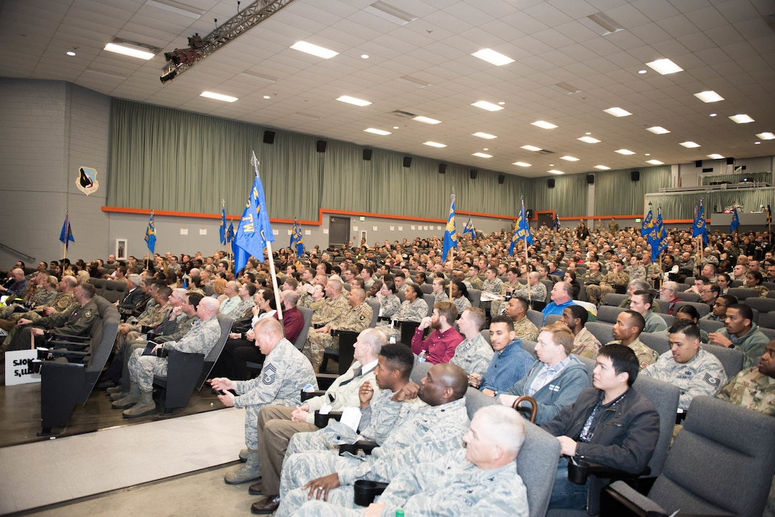 The 2018 412th TW 4th Quarter Awards Ceremony was held in the base theater Jan. 31, 2019. (U.S. Air Force photo by Joe Jones)