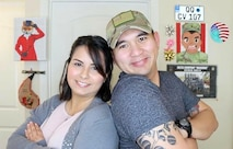 Staff Sgt. Archie Masibay poses for a photo with his wife, Flor.