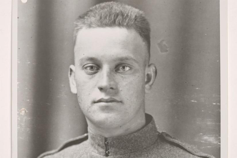 A Marine in his uniform circa 1920.
