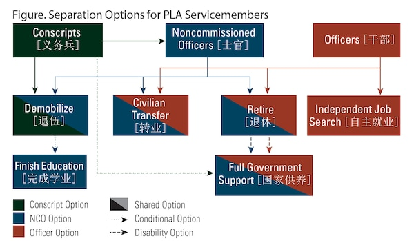Figure. Separation Options for PLA Servicemembers