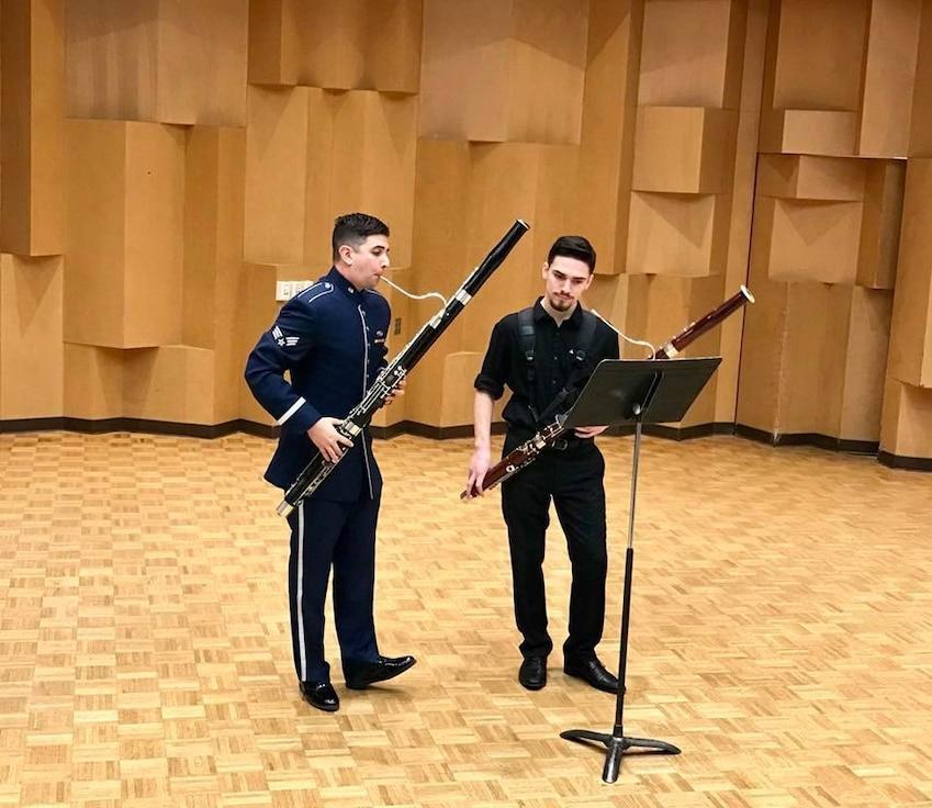 SrA Dan Shifren teaches bassoon