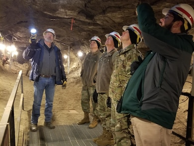 U.S. Army Combat Capabilities Development Command and Corps of Engineers R&D Center discuss permafrost at Corps' Permafrost Tunnel Research Facility