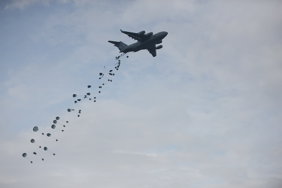 C-17 Globemaster III conducting air drop