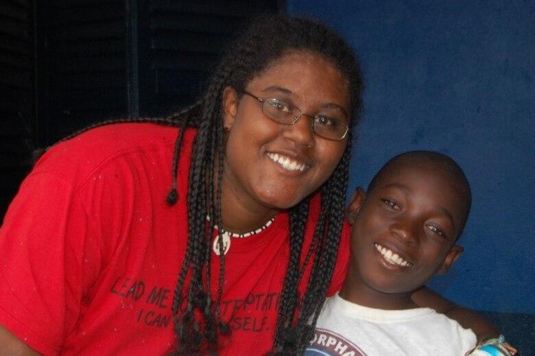 Breanna McGowan posing with Steven, who is one of the orphans in Ghana. (Courtesy photo/Breanna McGowan)