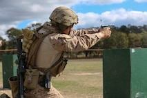 U.S. Marines participate in the two-week International Australian Army Skill at Arms Meet 2018 with 17 other countries, April 27, at the Combined Arms Training Centre, Puckapunyal, Australia.