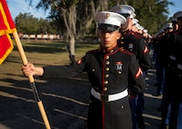 MARINE CORPS RECRUIT DEPOT PARRIS ISLAND, S.C. – A native of Sulphur, Louisiana, graduated from Marine Corps recruit training here as a platoon honor graduate of Platoon 2012, Company H, 2nd Recruit Training Battalion, Feb. 8, 2019.
