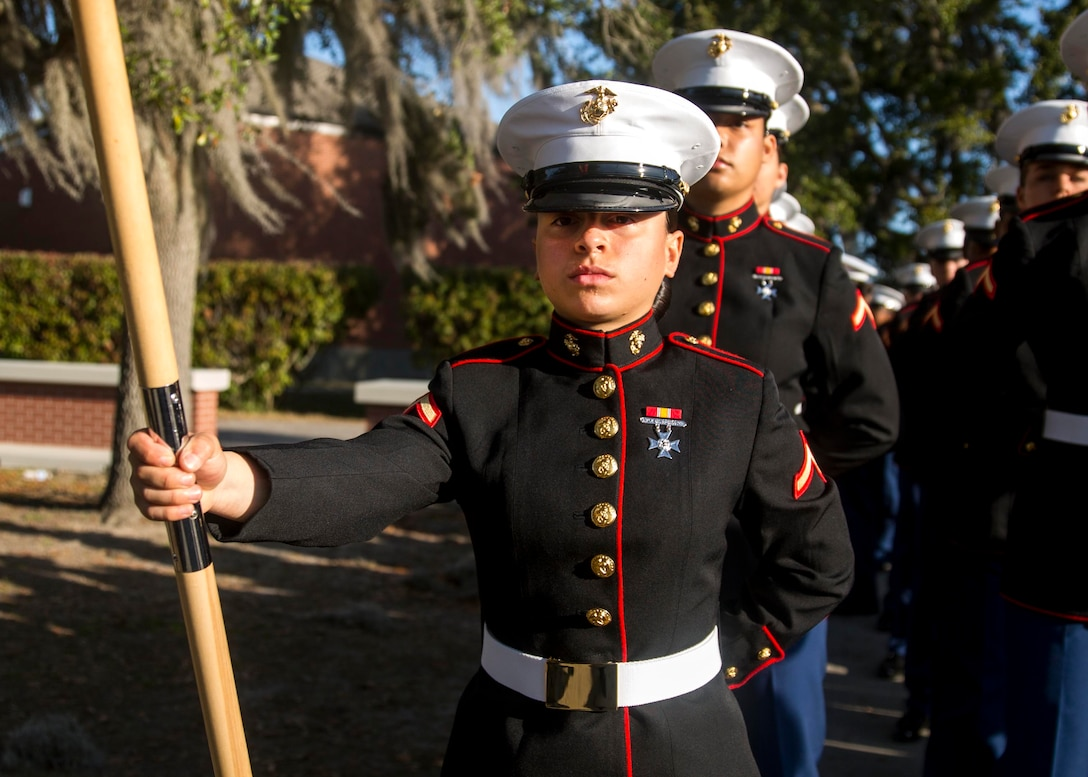 MARINE CORPS RECRUIT DEPOT PARRIS ISLAND, S.C. – A native of New Orleans, Louisiana, graduated from Marine Corps recruit training here as a platoon honor graduate of Platoon 4004, Company O, 4th Recruit Training Battalion, Feb. 8, 2019.