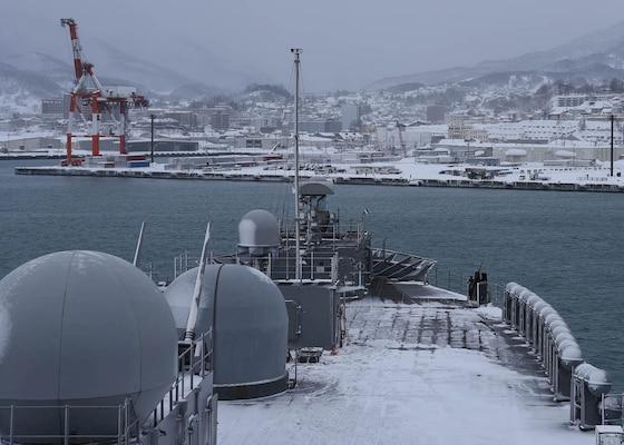 7th Fleet Command Ship USS Blue Ridge Visits Otaru, Japan