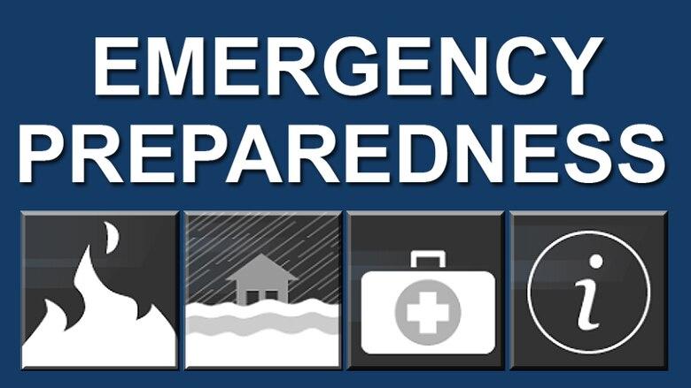 Emergency preparedness graphic.