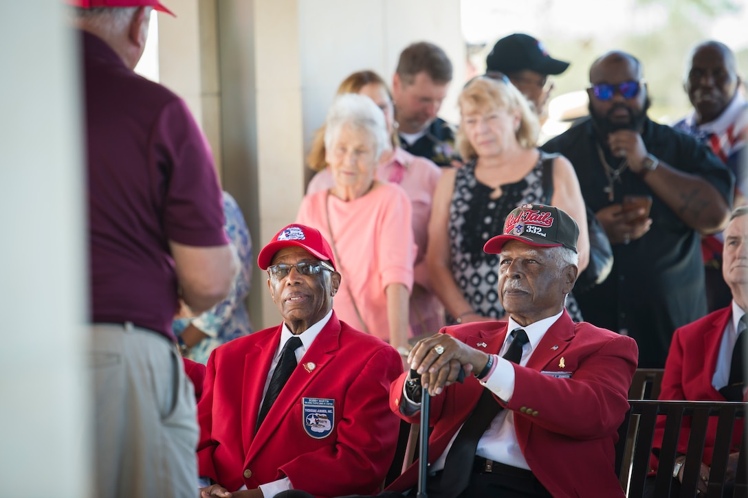 Tuskegee Airman, Edwin Cowan, was properly laid to rest alongside his wife for his service during World War II, Feb. 7, 2019, at Cape Canaveral National Cemetery, Fla.