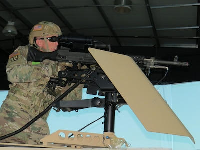 Simulators help Army Reserve Soldiers gain weapons proficiency at Operation Cold Steel III
