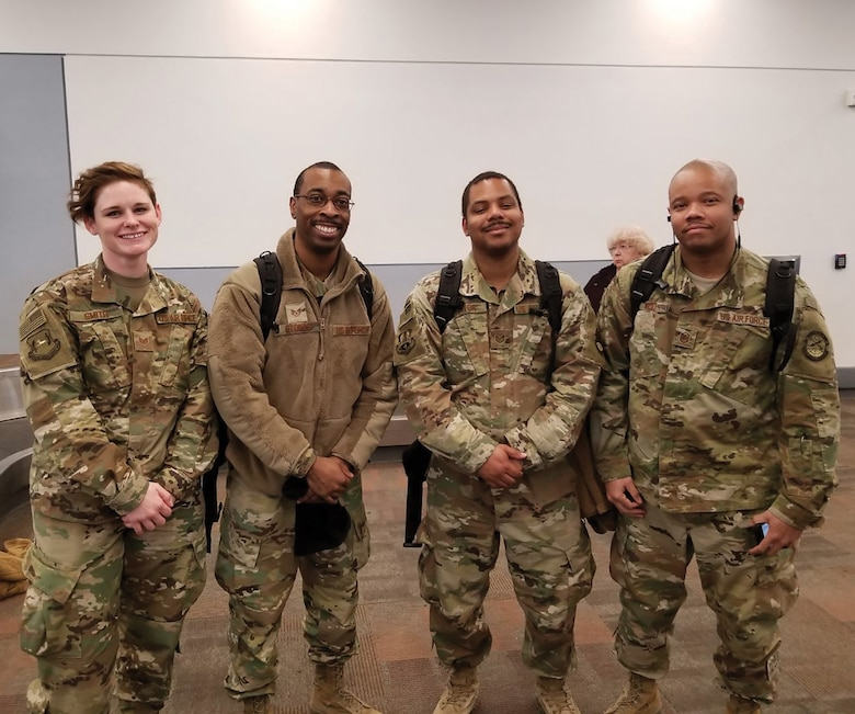 Airmen from the 445th Airlift Wing Operations Group, Civil Engineer Squadron, Logistics Readiness Squadron and Operations Support Squadron are welcomed home as they arrive at the Dayton International Airport throughout the month of January 2019. Approximately 150 Airmen returned from deployments in January. The wing deployed 344 Airmen in 2018 to more than 10 countries around the globe.