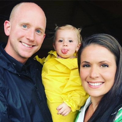 "Master Sgt. Sean Finney and Tech. Sgt. Cody Finney, both members of the 168th Maintenance Group, Alaska Air National Guard, Eielson Air Force Base, Alaska, and their daughter Eden pose for a photo during a family vacation. Tech. Sgt. Finney shared her ""Why I Serve"" story during the unit's February 2019 drill weekend, using this and several other photos, in order for 168th Wing leadership to discover more about why she serves."