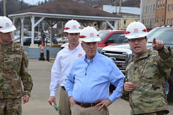 Congressman Bill Johnson visits the Pomeroy Section 14 Streambank Stabilization project.