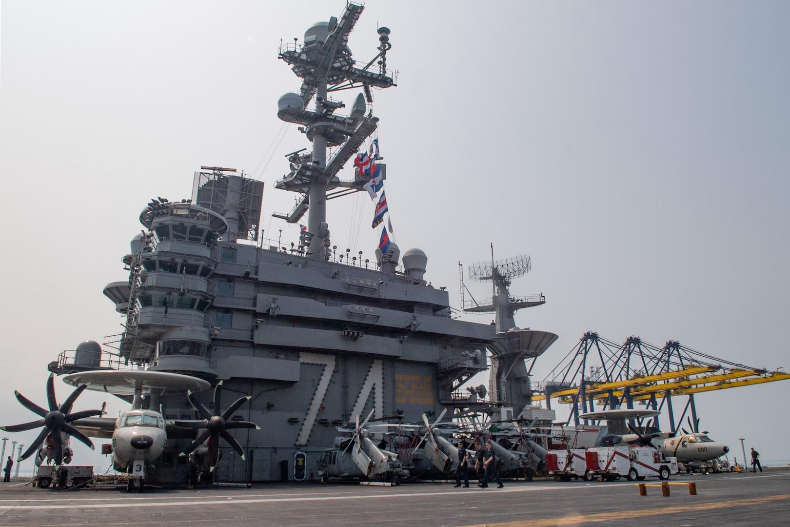 USS John C. Stennis Arrives in Thailand for Port Visit