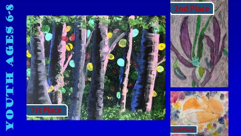 Congratulations to the 2019 Air Force Art Contest winners, ages 6-8. (U.S. Air Force graphic using winning art work)