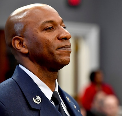 Chief Master Sgt. of the Air Force Kaleth O. Wright prepares to testify before the House Appropriations Subcommittee on Military Construction and Veterans Affairs in Washington, D.C., March 8, 2017. The CMSAF was joined by his service counterparts for the hearing.