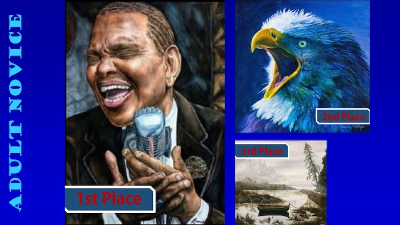 Congratulations to the 2019 Air Force Art Contest winners, adult novice. (U.S. Air Force graphic using winning art work)