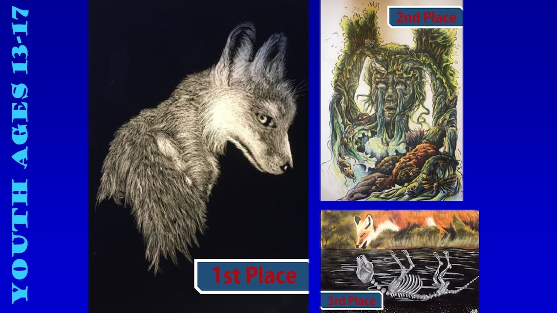 Congratulations to the 2019 Air Force Art Contest winners, ages 13-17. (U.S. Air Force graphic using winning art work)