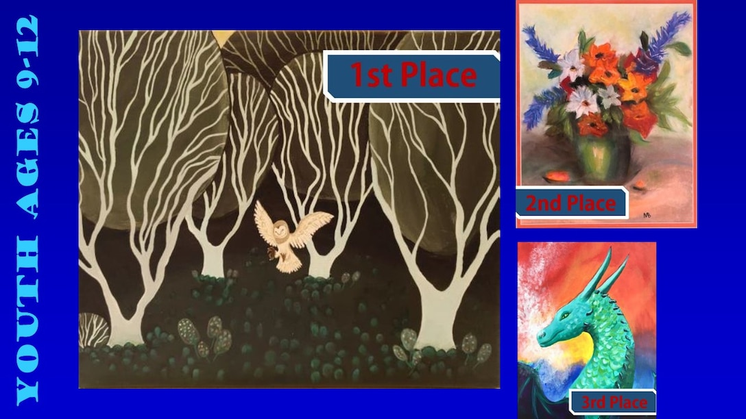 Congratulations to the 2019 Air Force Art Contest winners, ages 9-12. (U.S. Air Force graphic using winning art work)