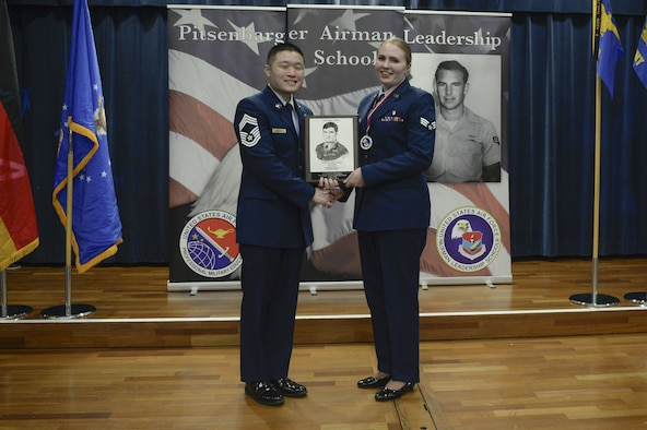 The Levitow award is the highest honor given to the student who displays excellence in all categories of Enlisted Professional Military Education, and is named in honor the lowest ranking Airman to ever receive the Medal of Honor.