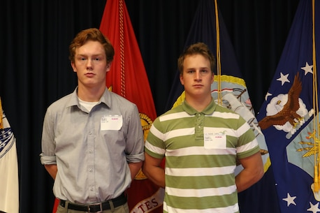Ethan Homala and Reuben Honkala, Recruiting Substation Green Bay poolees, and Ishpeming, Michigan, natives, shipped off to Marine Corps Recruit Depot San Diego on Monday, Sept. 17 through Recruiting Station Milwaukee on the Marine Corps' buddy program. The program provides them the opportunity to motivate and continue competing with each other.