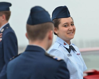 Emerson Dycus, a Green Bay, Wisconsin, native, is seen here during a Civil Air Patrol function. Dycus was selected from over 500 applicants to take part in the Marine Corps' Summer Leadership and Character Development Academy at Marine Corps Base Quantico, Virginia. The academy will enhance her leadership and teamwork skills while also introducing her to the armed forces and opportunities that lie in the armed forces (Courtesy photo).