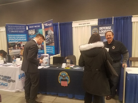 DLA Land and Maritime recruits at the 2019 OFIC Career fest on Feb 1, 2019.