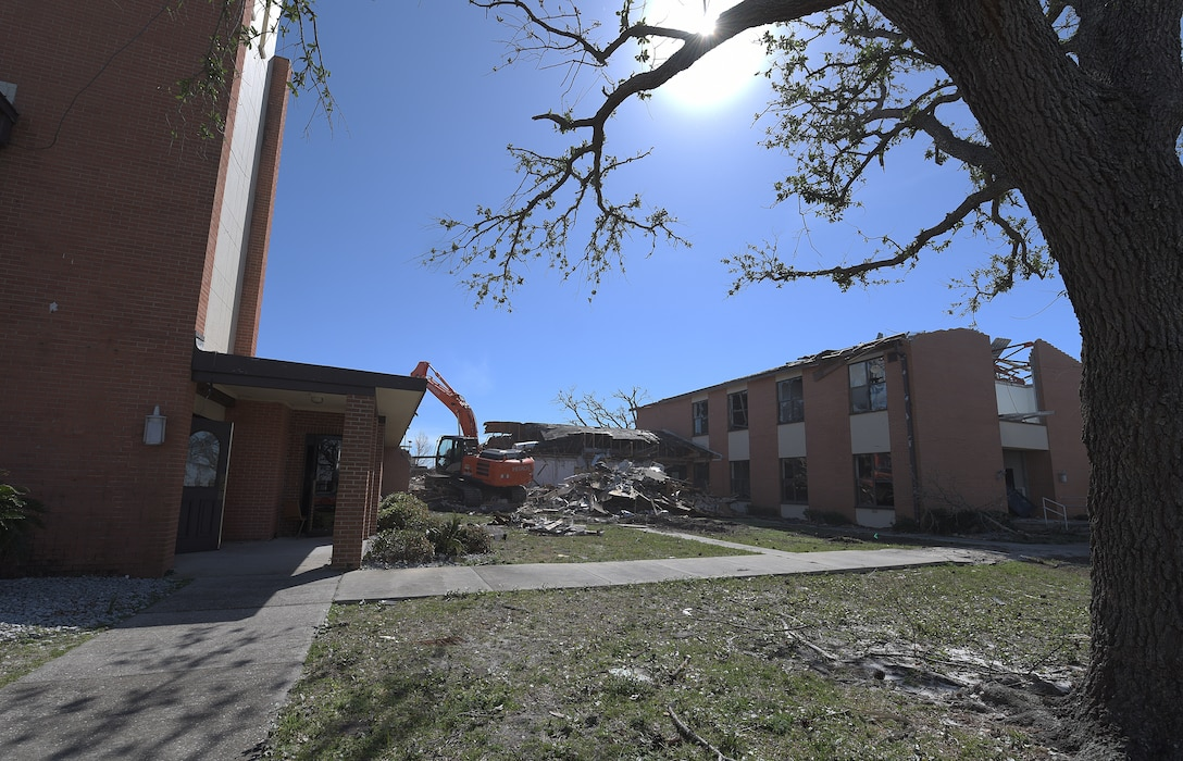 Tyndall begins demolition of damaged facilities