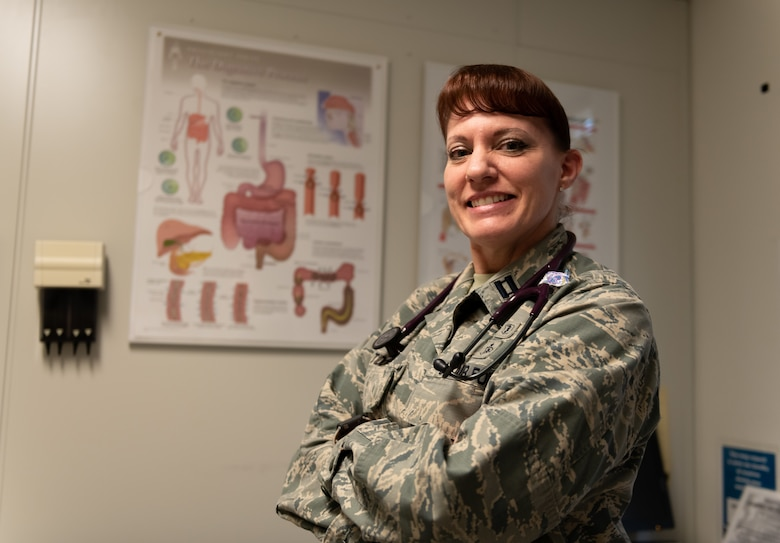 U.S. Air Force Capt. Andrea Tidd, 18th Medical Services Flight commander and physician assistant, poses for a photo Jan. 23, 2019, at Kadena Air Base, Japan.  Physician assistants are one of several positions in the Biomedical Sciences Corps. To honor these professionals the Air Force has designated Jan. 28 through Feb. 1, as BSC week. (U.S. Air Force Staff Sgt. Micaiah Anthony)