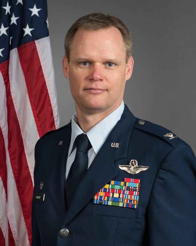 Col. Daniel R. Fowler, 137th Special Operations Wing commander, Will Rogers Air National Guard Base, Oklahoma City, poses for a portrait taken at the base, Nov. 30, 2018. (U.S. Air National Guard photo by Senior Master Sgt. Andrew M. LaMoreaux)