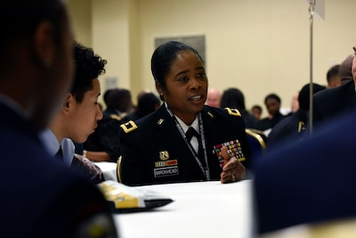 Guard leaders participate in STEM event, mentor students