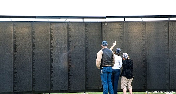 """The Daughters of the American Revolution's Alamo Chapter hosts """"The Wall That Heals,"""" a traveling representation of the Vietnam Veterans Memorial, at the Fort Sam Houston National Cemetery Feb. 28 through March 3. The cemetery is located at 1520 Harry Wurzbach Road, near the Wurzbach Entry Control Point at Joint Base San Antonio-Fort Sam Houston. The replica is 375 feet in length and stands 7.5 feet high at its tallest point. Visitors experience it rising above them as they walk towards the apex, a key feature of the design of the original wall in Washington, D.C."""