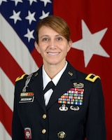 Official bio photo for U.S. Army Brig. Gen. Michele Bredenkamp, Vice Director for Intelligence, J2