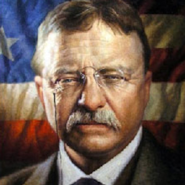 A graphic of Army Lt. Col. Teddy Roosevelt