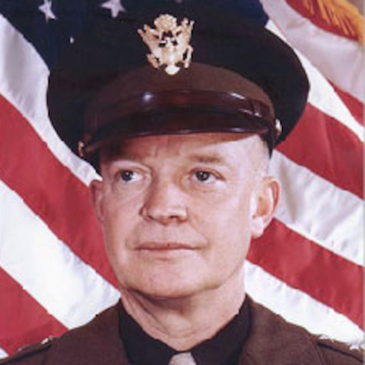 A graphic of Army Gen. Dwight D. Eisenhower