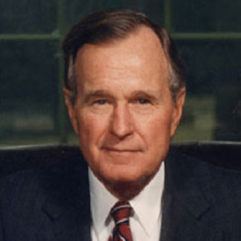 A graphic of George H.W. Bush